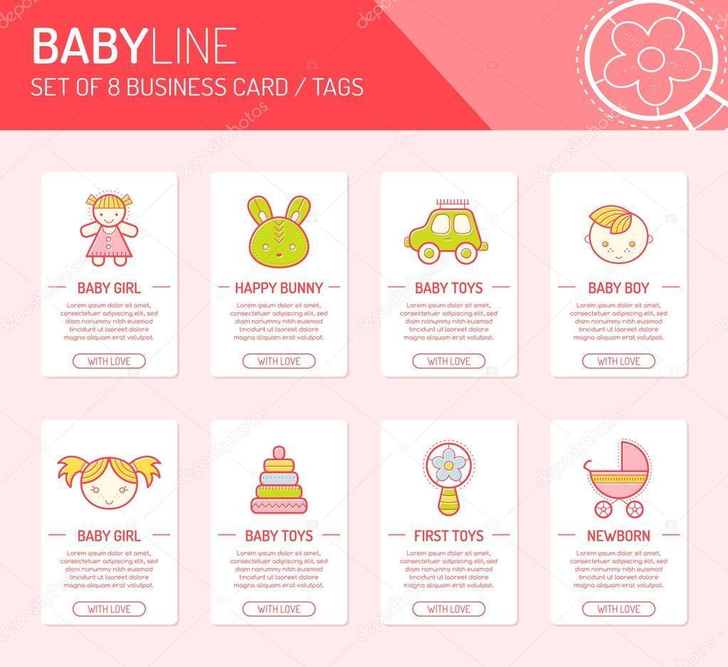 Kreative Universalkarten Mit Kindern Und Spielzeug