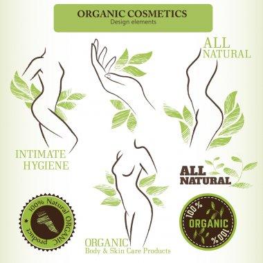 Set of natural organic cosmetics