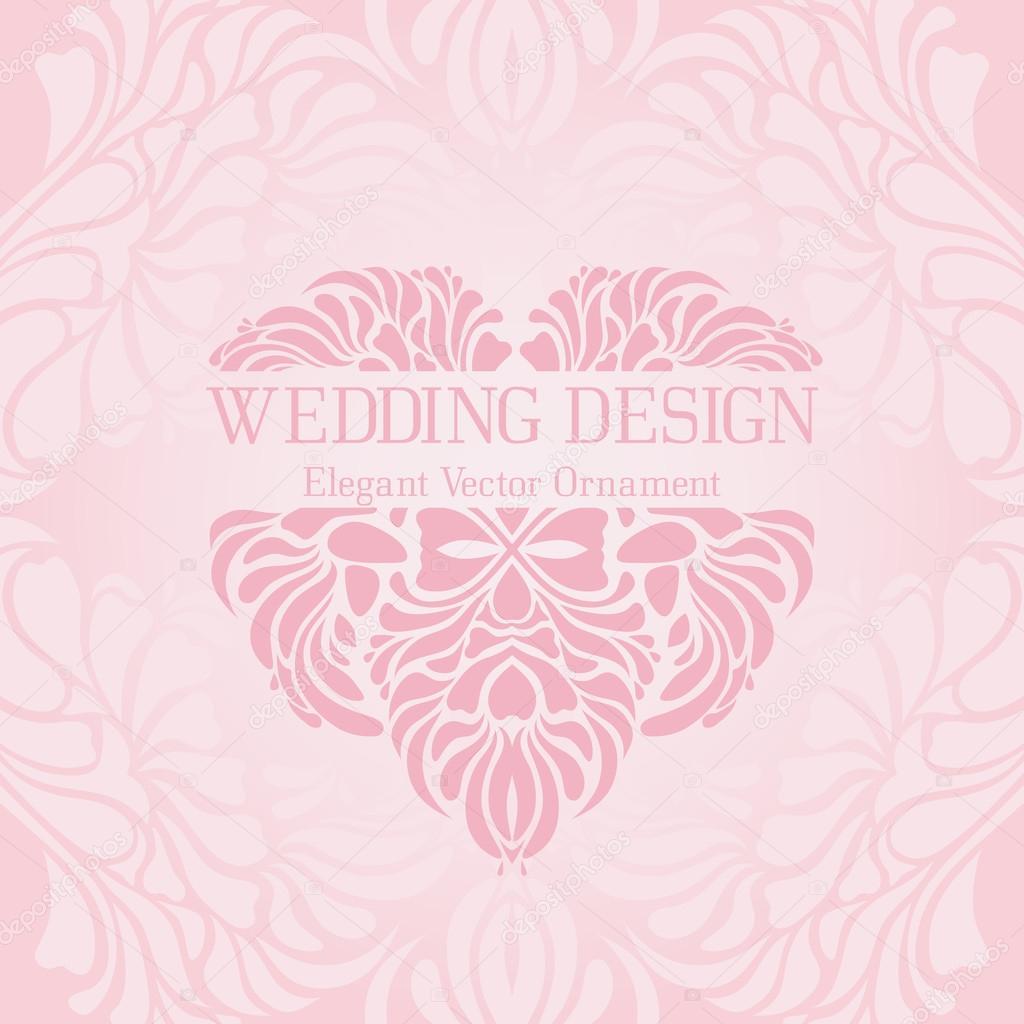 Plantilla de colores pastel vintage con un adorno elegante vector ...