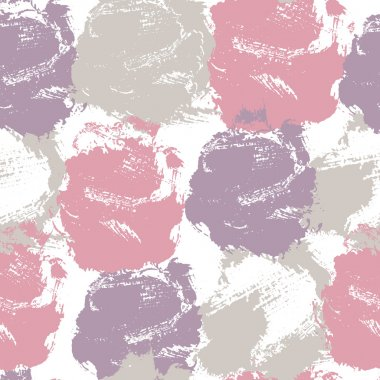 Abstract seamless pattern with colorful stains and smears