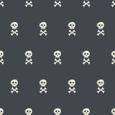 Halloween seamless pattern with spooky skulls