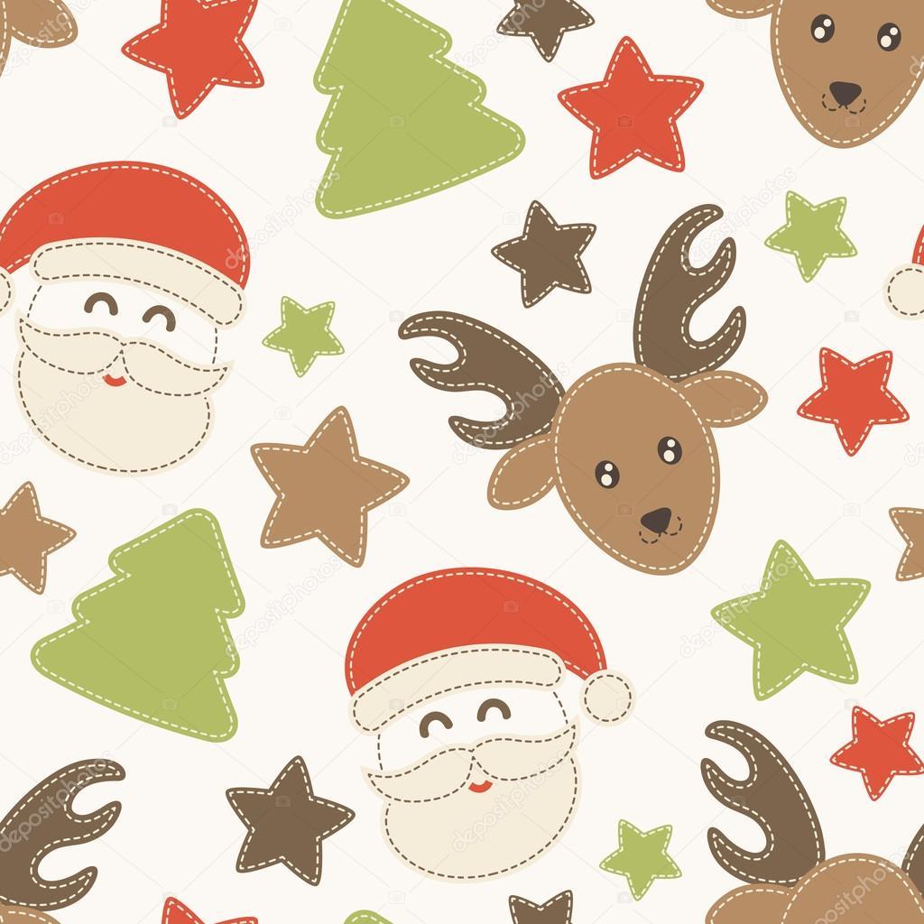 Patrones sin fisuras infantil de Navidad con Santa Claus, árboles de ...