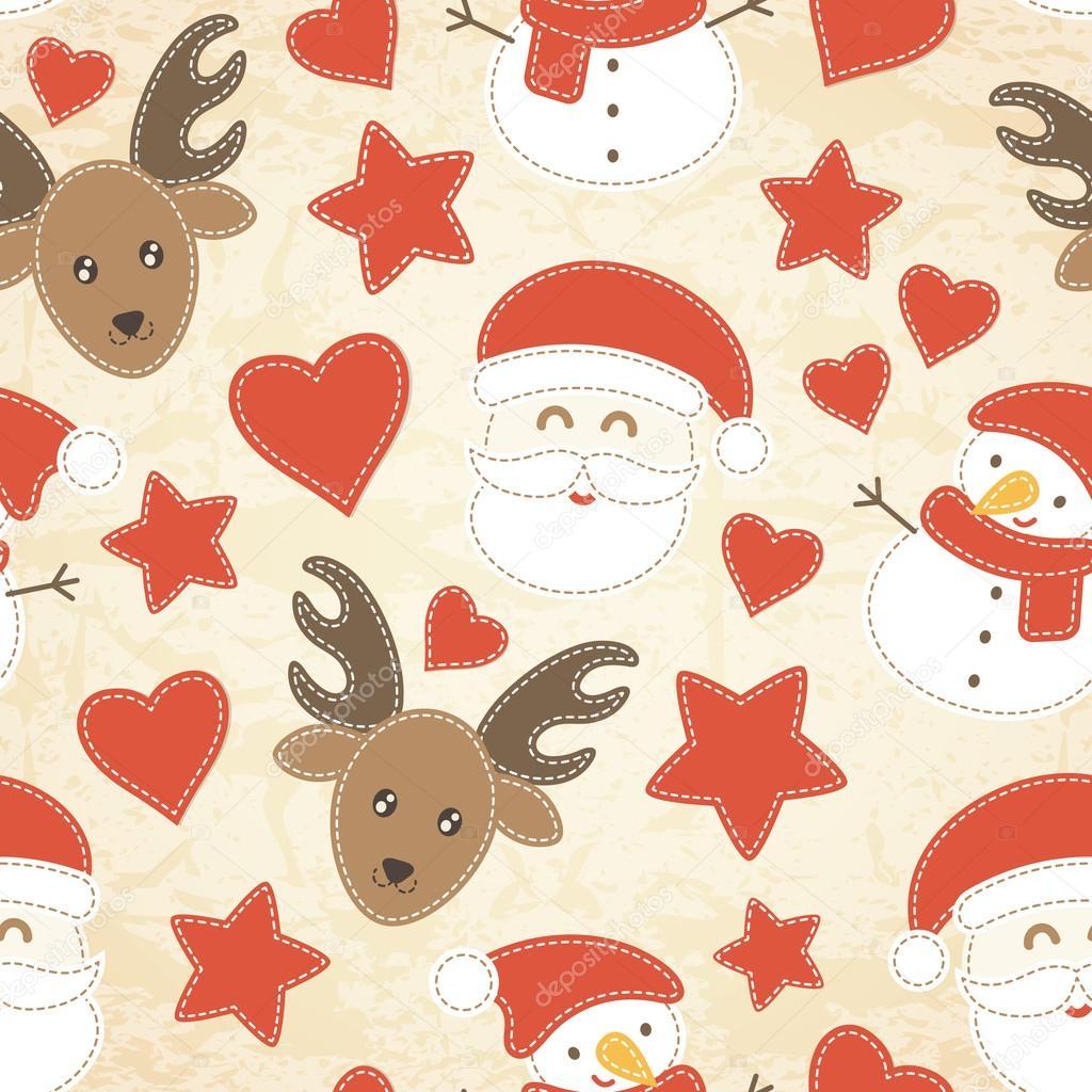 Patrón transparente infantil de Navidad con Santa Claus, árboles de ...