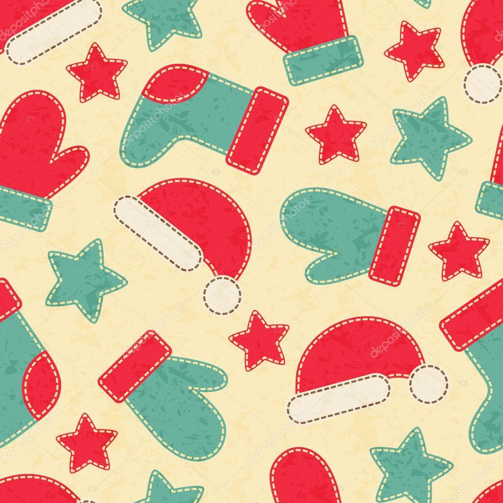 Kindliche Weihnachten nahtlose Muster mit Weihnachtsmann ...