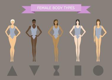 Set of Female Body Shape Types