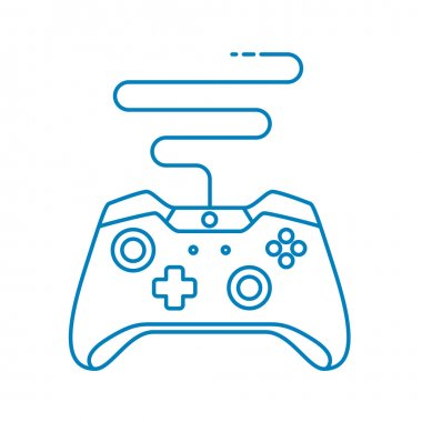 Game controller in outline style