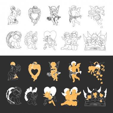 Angels or cupids hand drawn vector llustration clip art vector