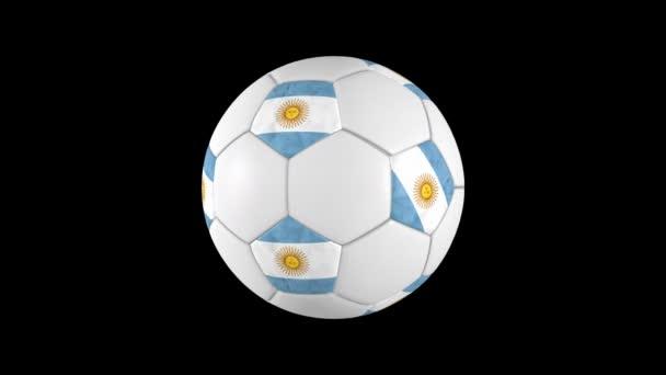 Argentinian soccer ball rotation