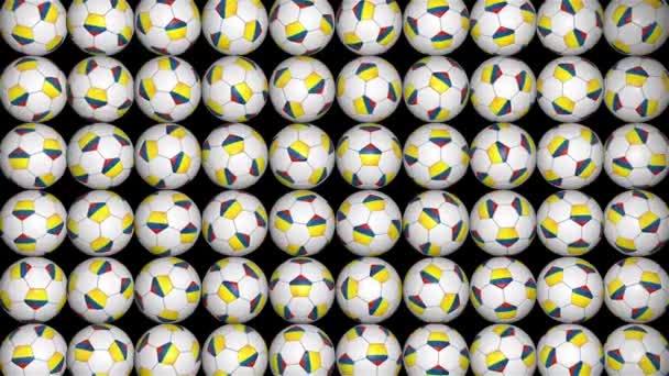 Colombian balls random rotation