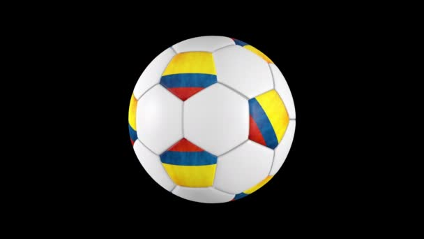 Colombian soccer ball rotation