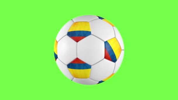 Colombian soccer ball rotation