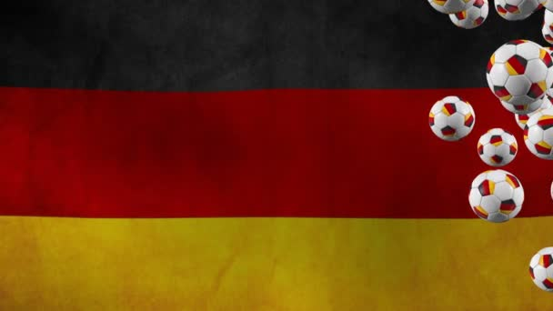Germany balls fly on flag background