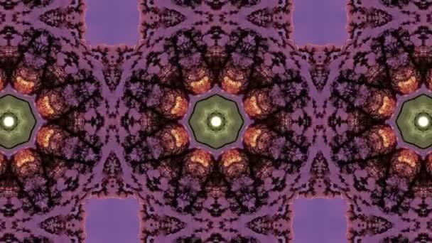 Night snow kaleidoscope,