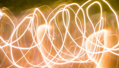 abstract yelow light painting