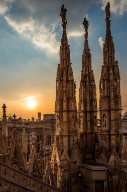 Roof of the Famous Milan Cathedral, Italy
