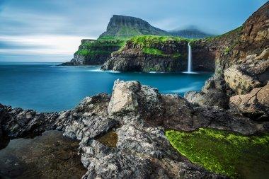Gasadalur waterfall in Vagar, Faroe Islands