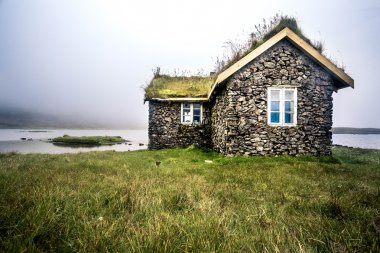 Turf house Faroe Island, North Atlantic