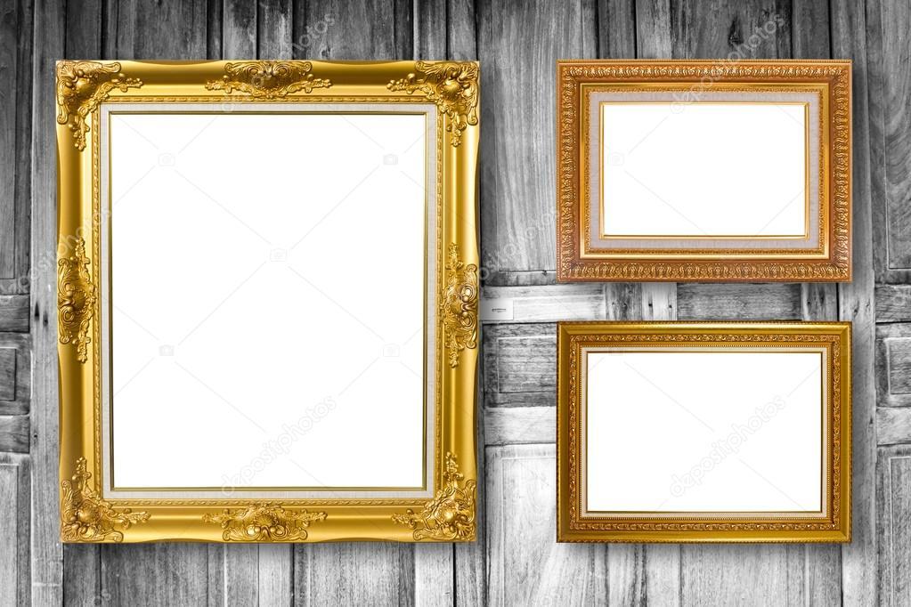 Conjunto de marco de imagen. Galería de arte en madera de pared ...