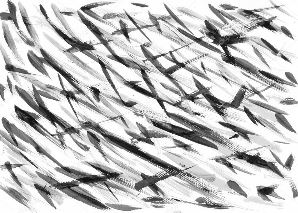 Resumo De Origens De Artes Pintura Preto E Branco Stock
