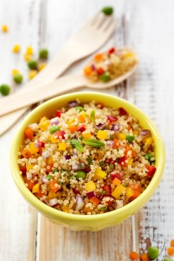 Quinoa salad, healthy and nutritious