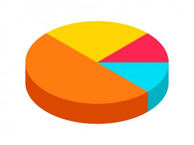 Dimension isometric retro puzzle circle business info graphic presentation icon
