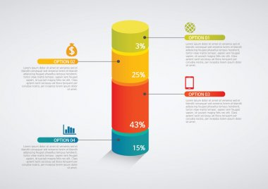 Info graphics - colorful graph,cylinder