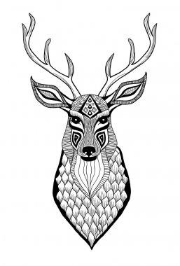 Hand drawn animal head stock vector