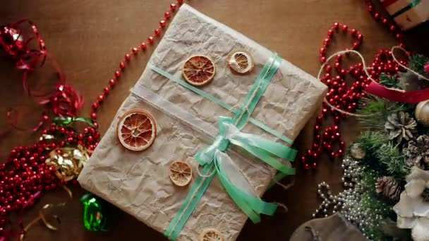 Type of Packaged Gifts, Which Are Selected Decorative Elements in the New Year Day.