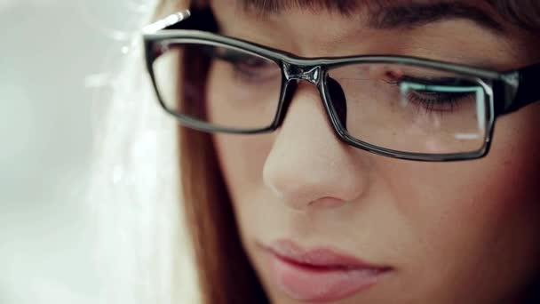 Beautiful Eyes Of A Young Business Lady Stock Video Status Film