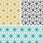 Geometrická šestihranných vzor ve stromu stylu