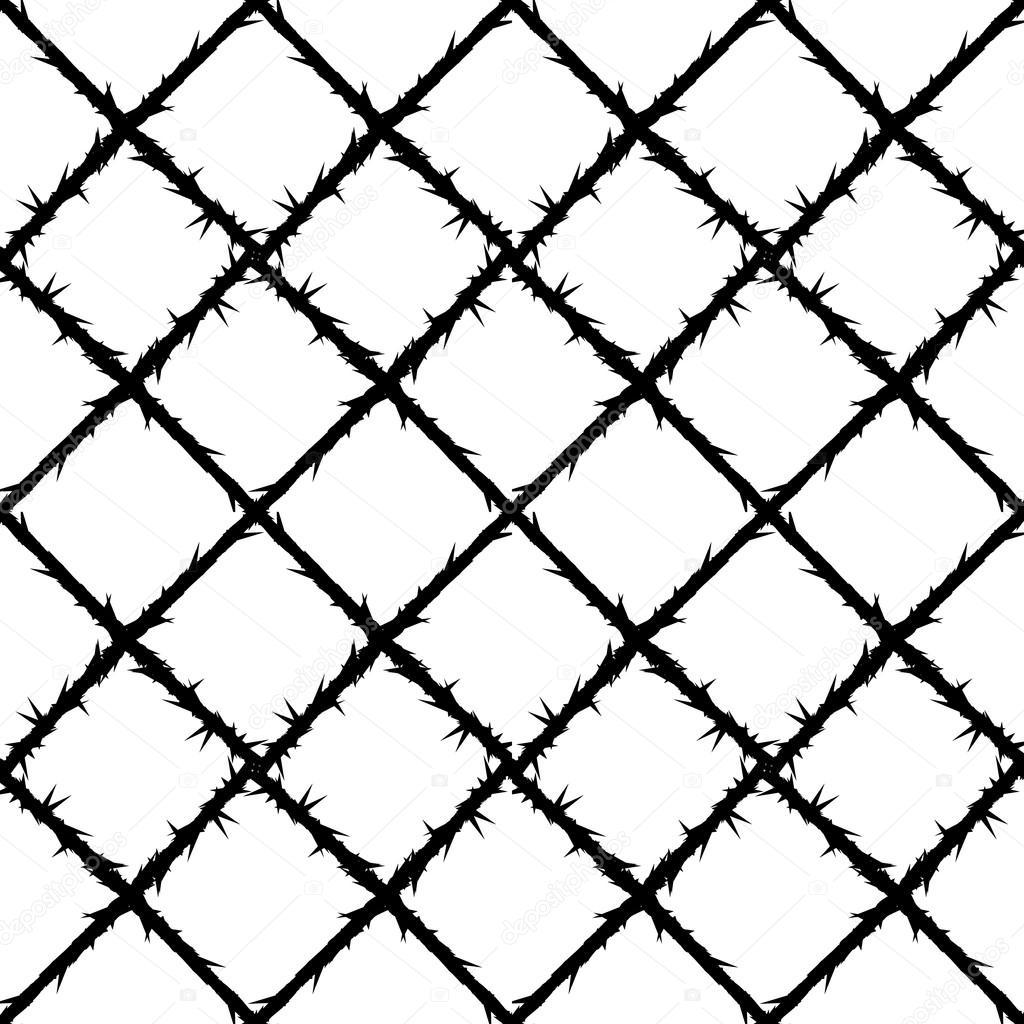 Dorn-Draht-Gitter-Muster — Stockvektor © jiaking1 #70895689