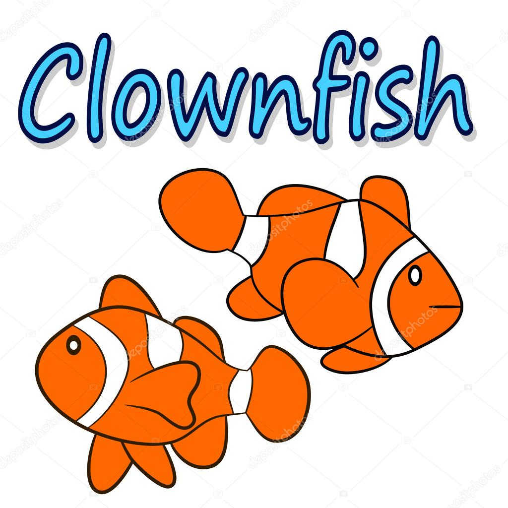 Illustration of a clownfish isolated