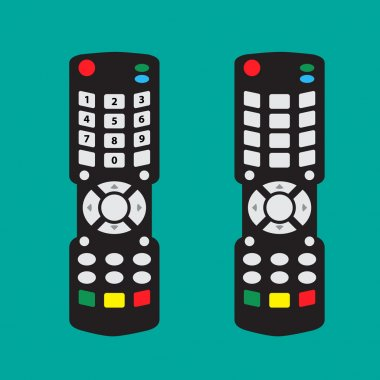 Modern Remote control with arrow button and number and no number