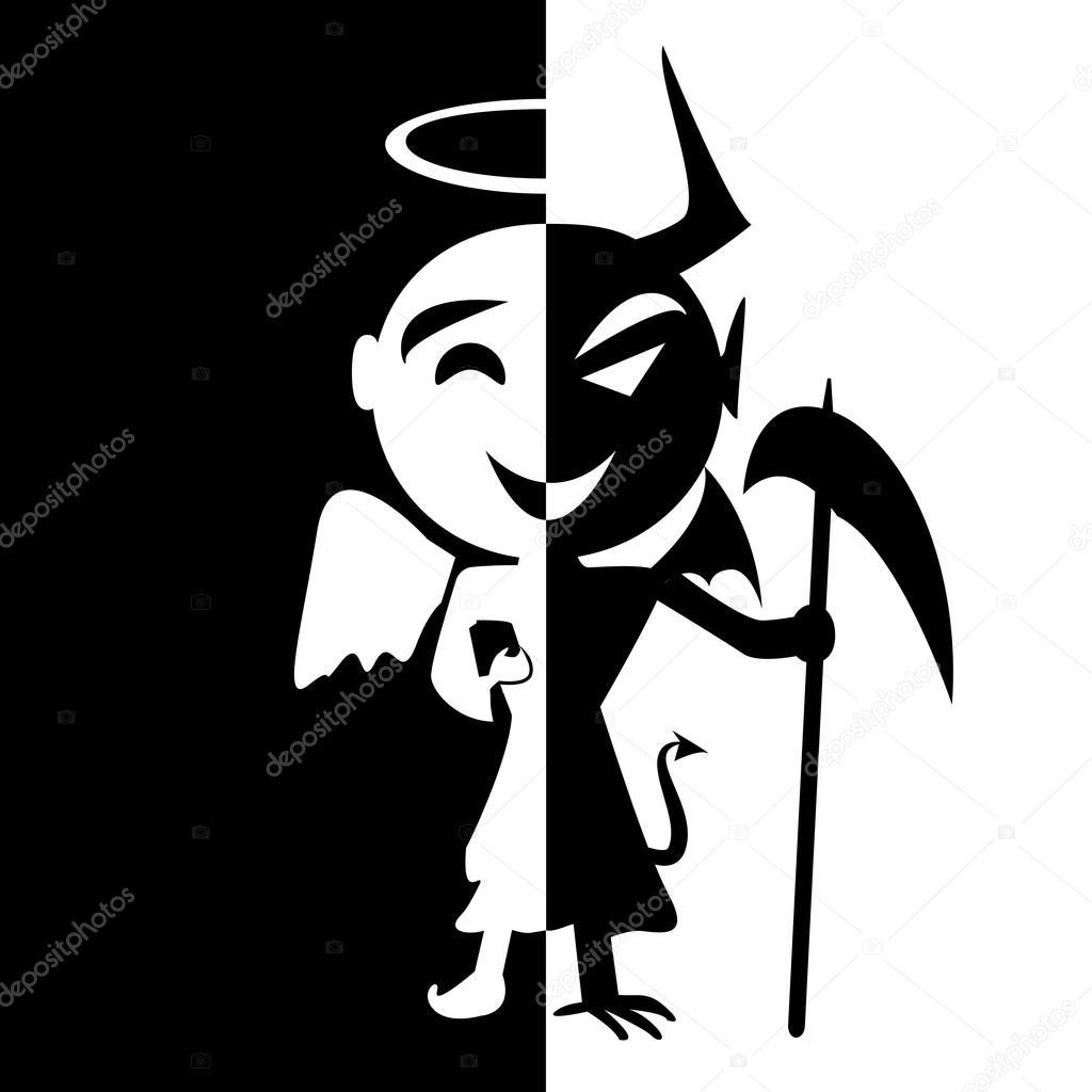 Trastorno bipolar. Sonrisa de Santo y Satanás, Ángel y demonio en sa ...