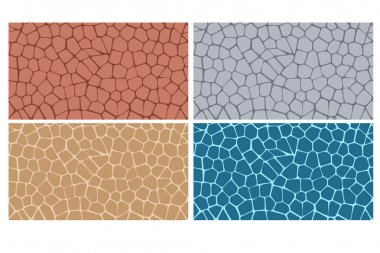 Modern stylish texture of stone plate in four style