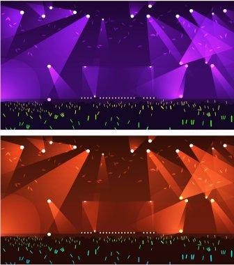 Set of empty stage Rock concert