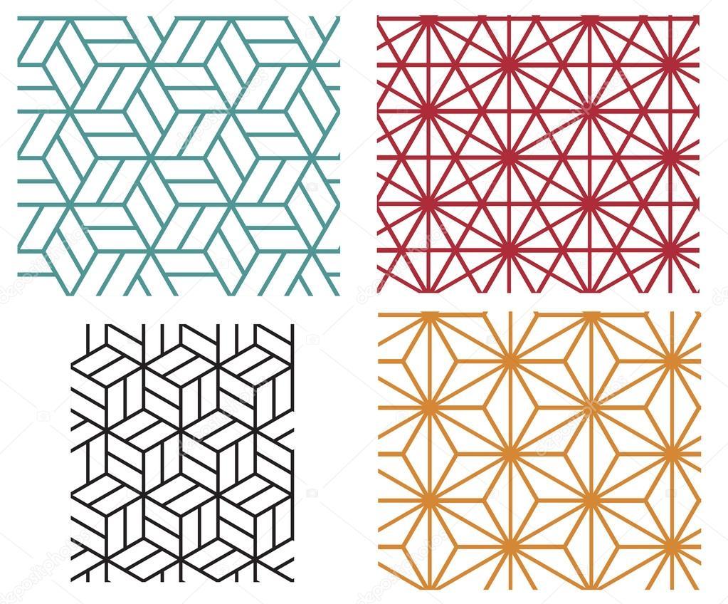 patrones de vectores geométricos línea style — Archivo Imágenes ...