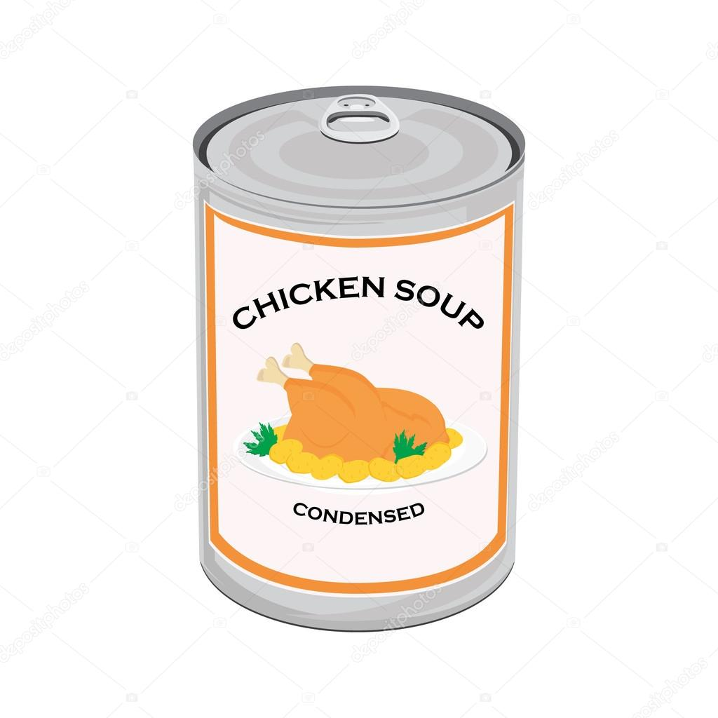 Chicken Soup Can Vector Image By C Viktorijareut Vector Stock 103737536