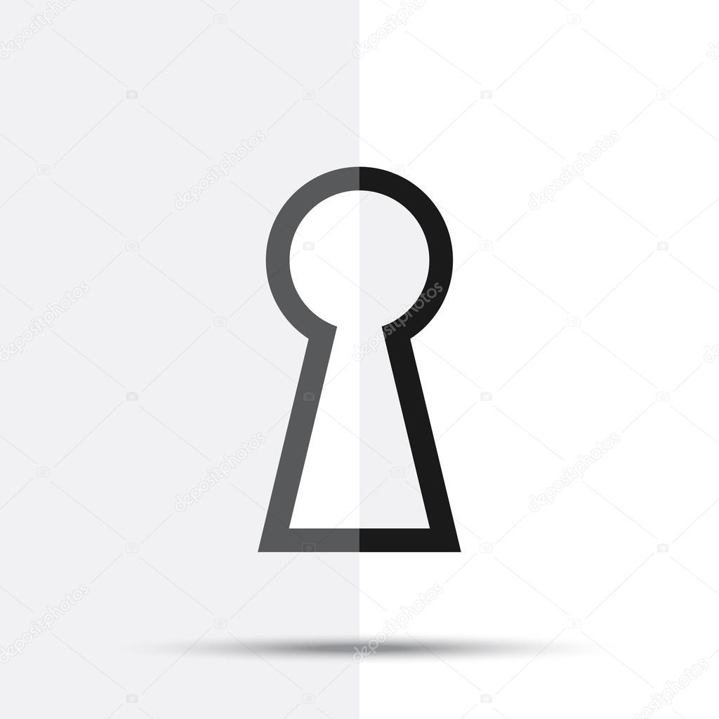 keyhole vector icon stock vector viktorijareut 106466460 rh depositphotos com Keyhole Spy Vector Keyhole Spy Vector