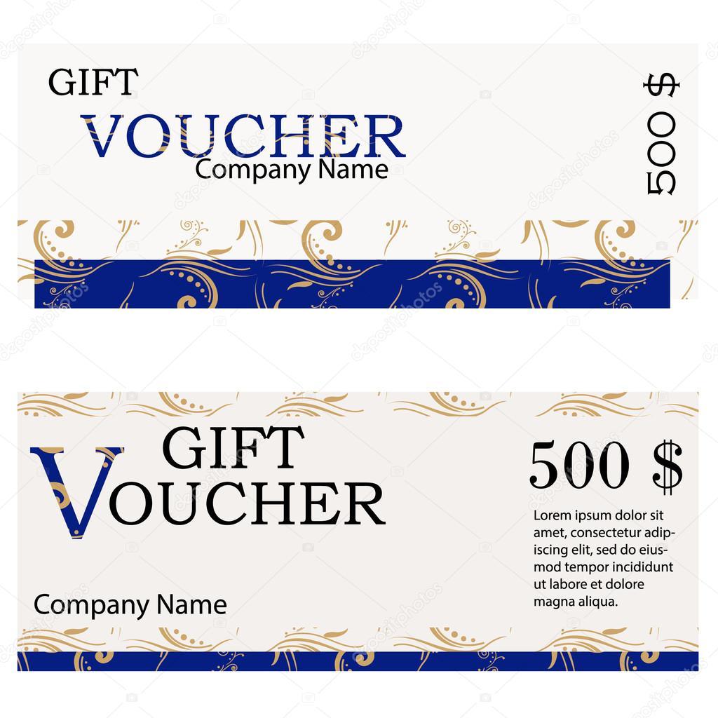 Gift Voucher Design Stock Vector Viktorijareut 107452688