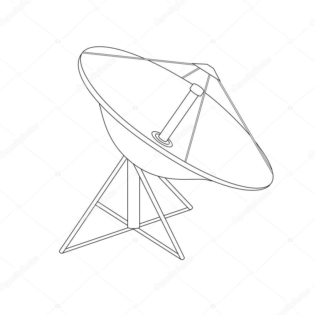satellite dish antenna stock photo viktorijareut 116876508 Dish Network Satellite in Space raster illustration satellite dish antenna outline drawing radar flat con photo by viktorijareut