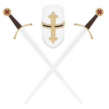 Templar swords and helmet