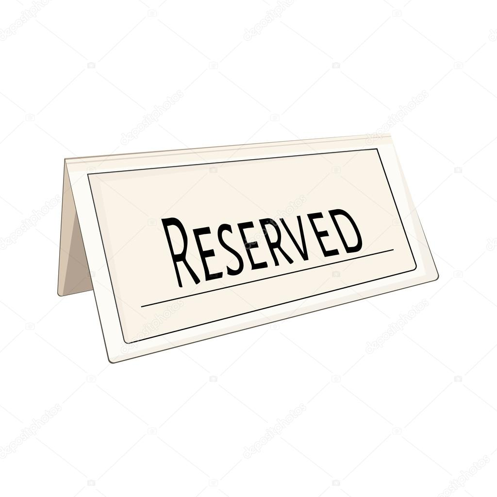 Cartel reservado restaurante — Foto de stock © viktorijareut ...