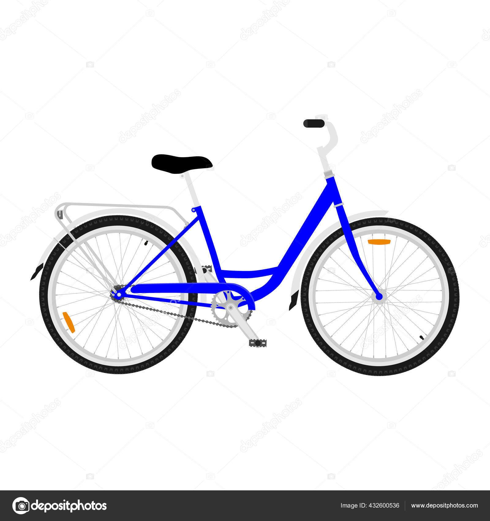 Bicicleta Montanha Azul Com Pneus Offroad Grossos Ciclismo Conceito Transporte Vetores De Stock C Viktorijareut 432600536