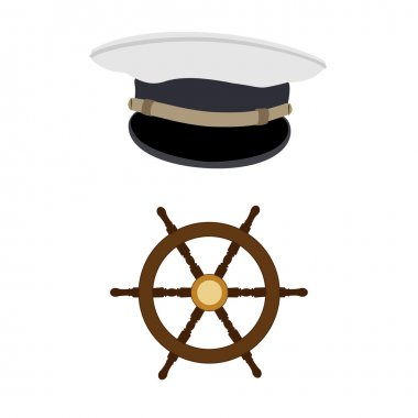 Navy hat and wheel