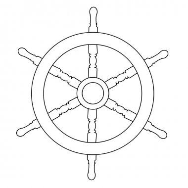 Ship wheel outline drawings