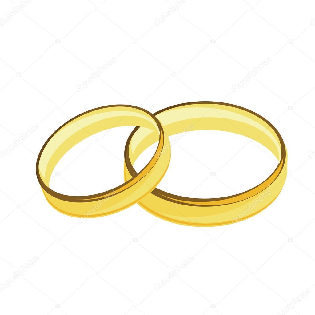 Goldene Hochzeit Ringe Stockvektor Viktorijareut 68622307