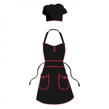 Cook apron and hat