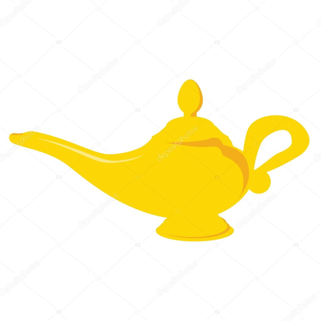 Aladdin lamp — Stock Vector © viktorijareut #74497727 for Aladdin Lamp Clipart  76uhy