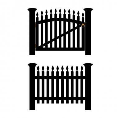 Black fence and gate